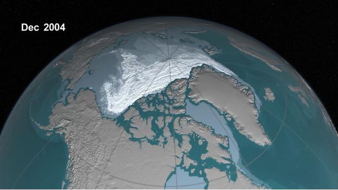 NASA опубликовало ВИДЕО, как тает лед (нет, не под песню)