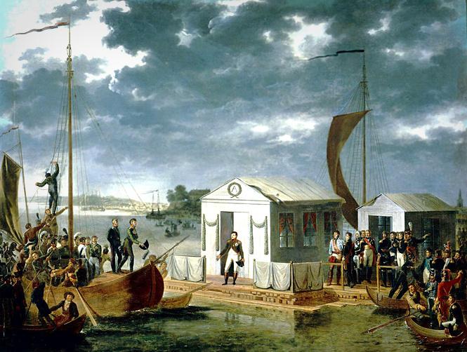 Встреча императоров на Немане 25 июня 1807 года