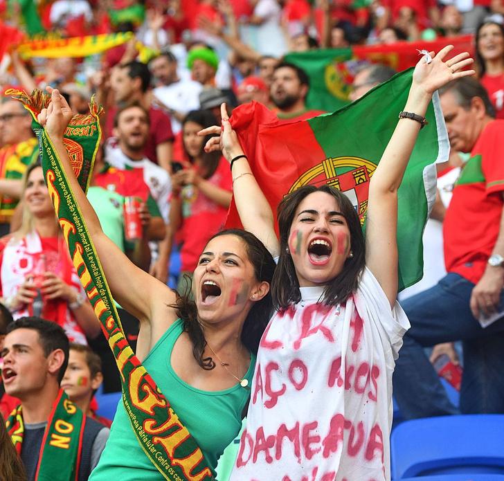 Португальские болельщицы