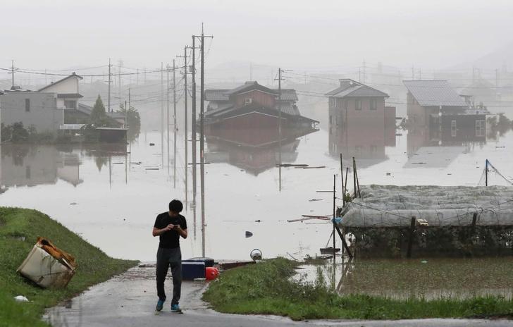 Фото №1 - Последствия урагана в Японии (невеселая ГАЛЕРЕЯ)