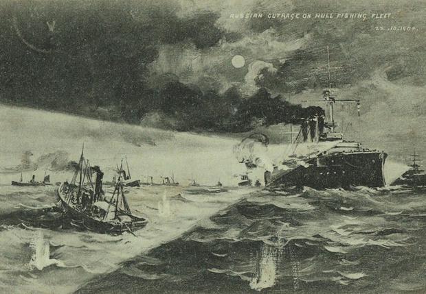 Британская открытка, изображающая тот бой