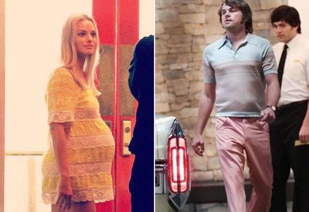 В Сеть попали кадры папарацци с Марго Робби и Брэдом Питтом со съемок нового фильма Тарантино