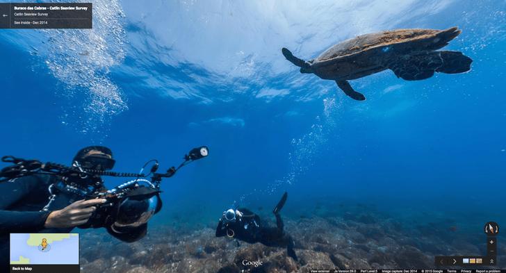 Под воду с Google Street View