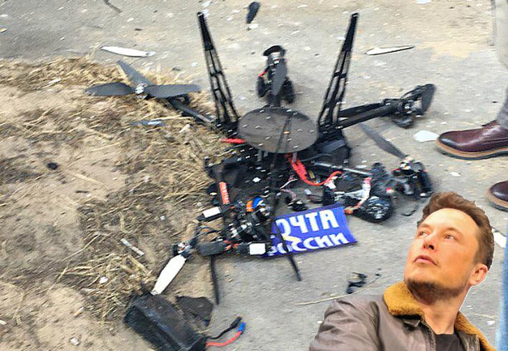 Фото №1 - Первый же дрон «Почты России» разбился, едва взлетев (ВИДЕО фиаско)