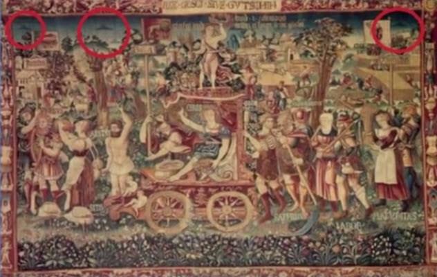 Фото №5 - 9 средневековых картин, на которых изображены НЛО