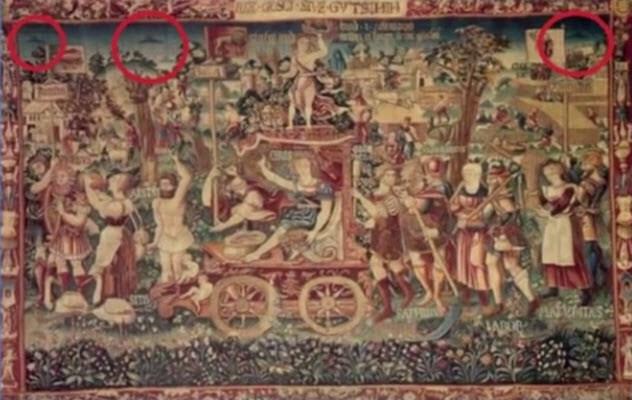 9 средневековых картин, на которых изображены НЛО