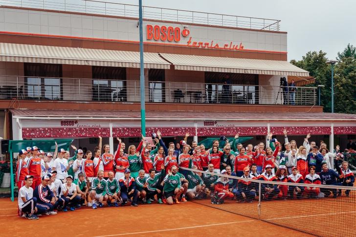 Фото №1 - Состоялся первый благотворительный теннисный турнир BoscoFriendsOpen