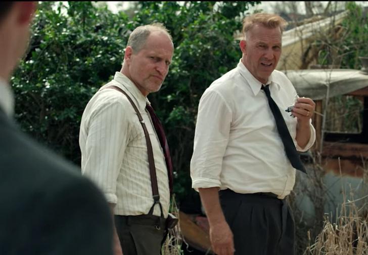 Фото №1 - Старики — «Разбойники»: Кевин Костнер и Вуди Харрельсон в трейлере нового боевика от Netflix