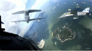 360-градусная камера в кабине пилота истребителя (панорамное ВИДЕО)