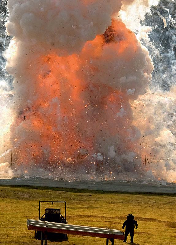 Пожар на окраине Мехико