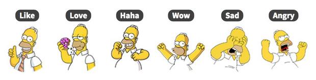 Фото №1 - Поменяй унылые лайки в «Фейсбуке» на Гомера Симпсона, Путина или на что сам захочешь!