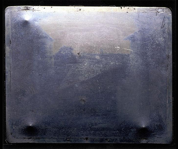 Первый снимок на оловянной пластине