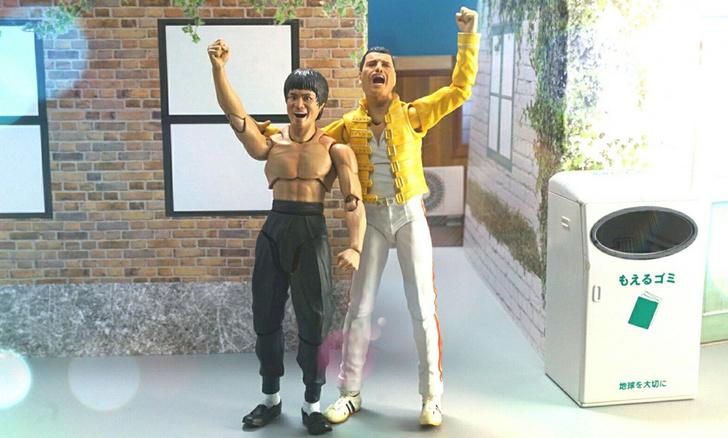 Фото №1 - Комиксы от Sueyoshi: странные приключения Брюса Ли и Фредди Меркьюри в Японии