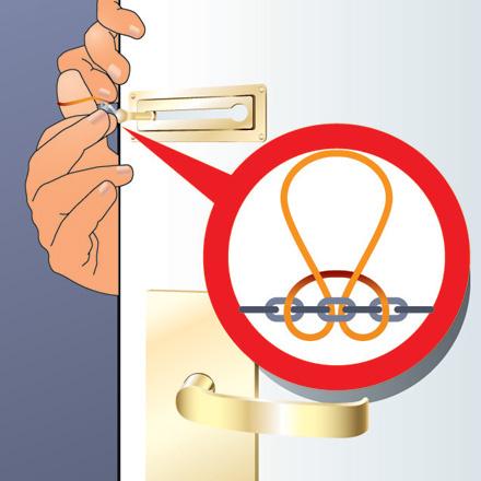 Как открыть цепочку на двери