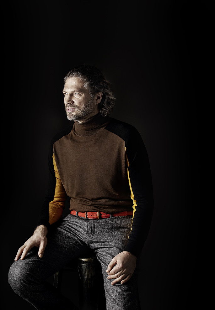 Водолазка Strellson, <br />брюки и ремень Gant