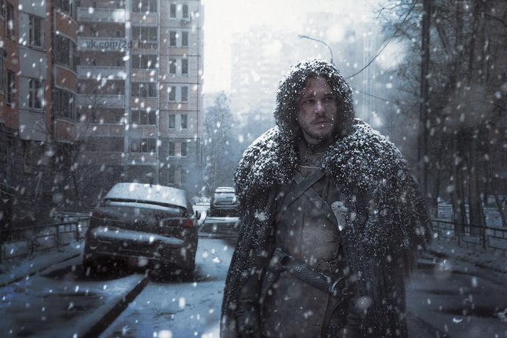 Фото №12 - Вот что получилось бы, если бы голливудские фильмы снимали в России!