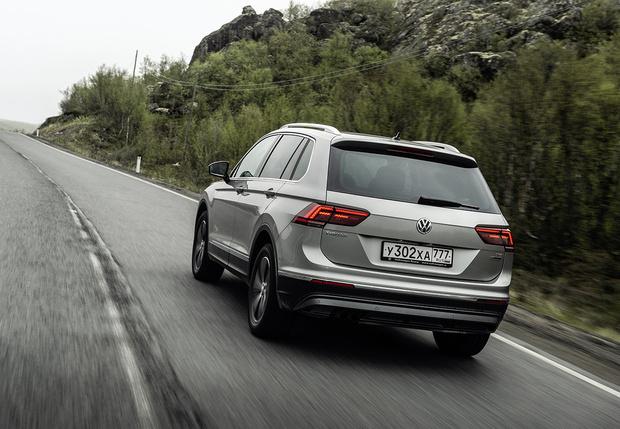 Фото №2 - И целого асфальта мало: наш тест-драйв Volkswagen Tiguan в условиях Русского Севера