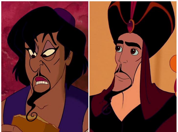 Фото №2 - Вот как выглядят диснеевские герои и злодеи, если их лица поменять местами