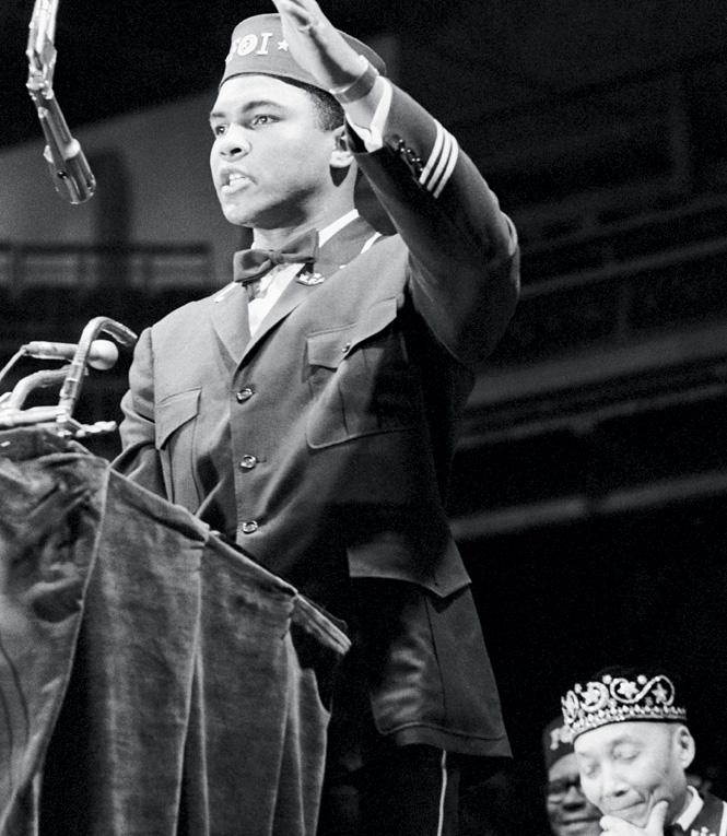 Али обращается к Конгрессу черных мусульман Америки