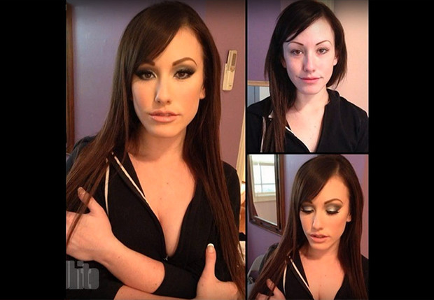 Фото №1 - Как выглядят порноактрисы без макияжа