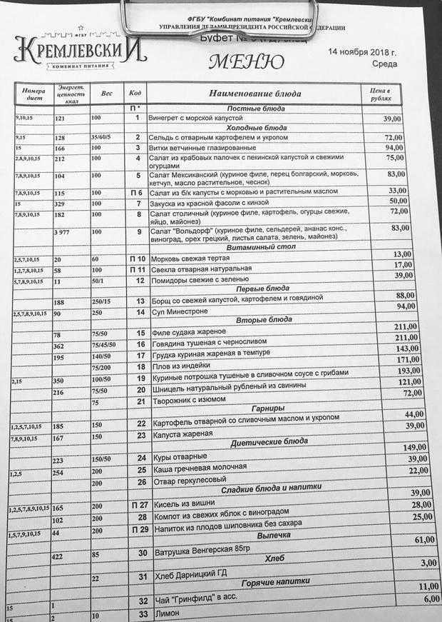 Фото №2 - Сколько стоит пообедать в Госдуме? Депутат выложил фото меню из тамошней столовой (прилагается)