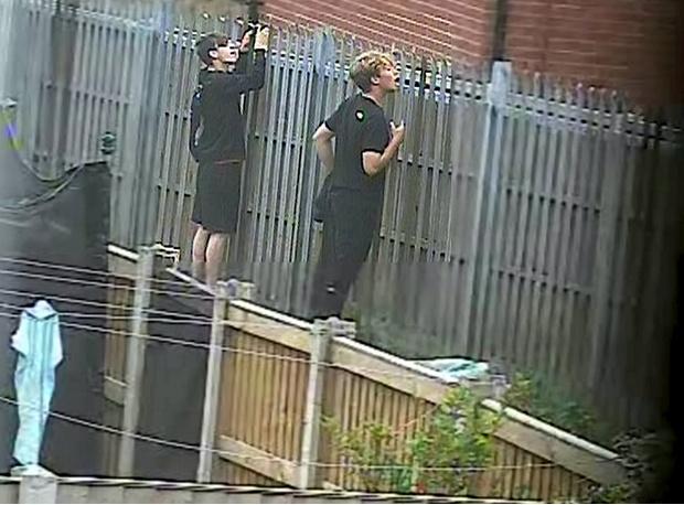 Фото №1 - Огромный полицейский унес преступника на плече (фото)