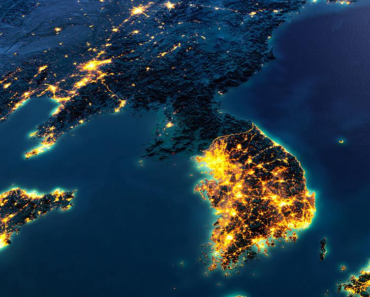 Задачка на сообразительность: найди границу между двумя Кореями