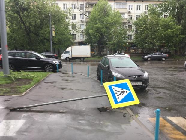 Фото №5 - Ураган в Москве: подборка самых пугающих видео и фото!
