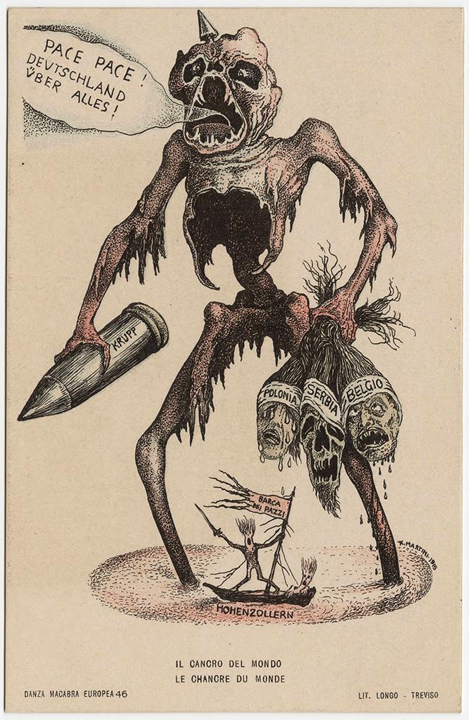 Фото №39 - Жутковатые карикатуры Первой мировой