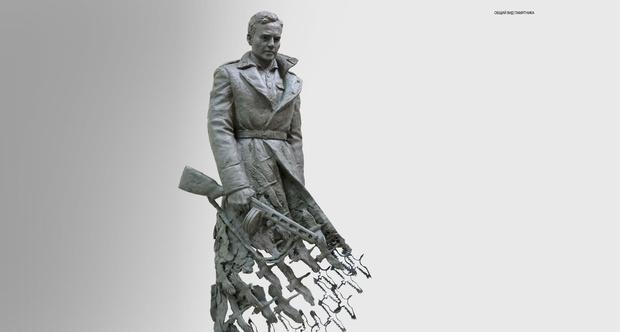 Фото №3 - Вот такой мощный памятник советскому солдату поставили подо Ржевом