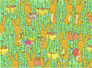 Пасхальная головоломка: найди цыпленка на этой картинке