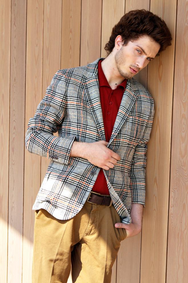 Пиджак Gant, рубашка-поло Tom Tailor, брюки Tru Trussardi, ремень Daniel Hechter