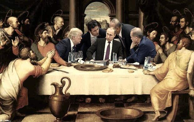 Фото №11 - Масштаб личности: лучшие шутки о прифотошопленном Путине на саммите G20