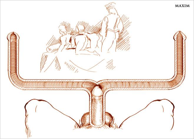 Переходник для занятия сексом с двумя женщинами