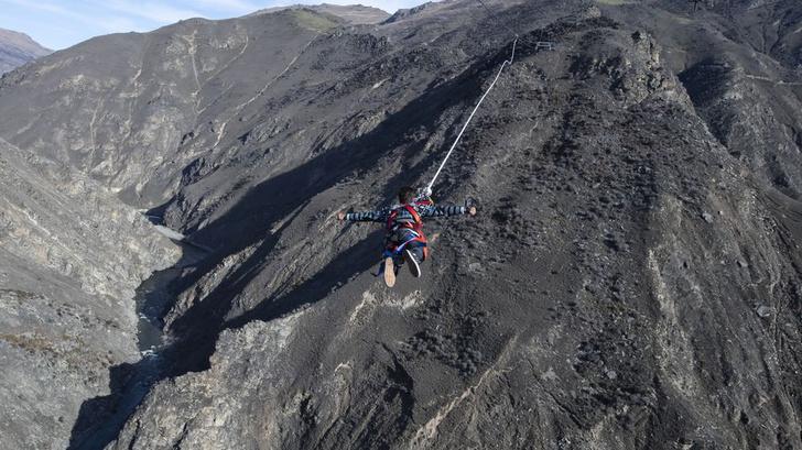 Фото №1 - В Новой Зеландии построили самую экстремальную тарзанку-катапульту (видео)