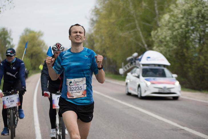 Константин Шишов за минуту до финиша