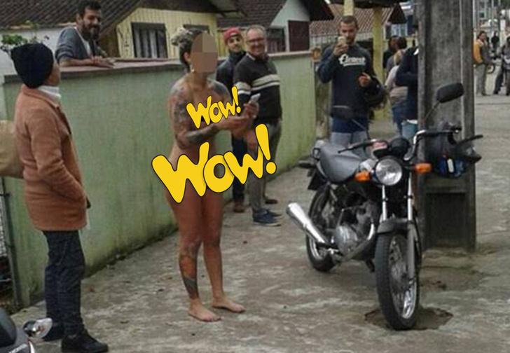 Фото №1 - Бразильянка в знак протеста разделась догола перед домом продавца, всучившего ей бракованную машину