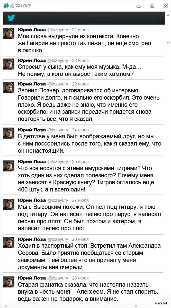 Twitter Юрия Лозы