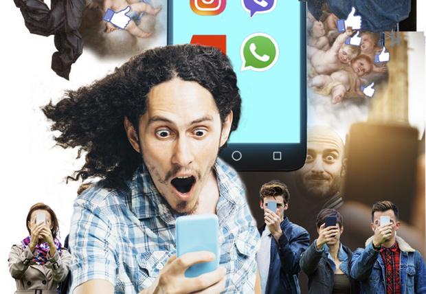 Фото №1 - Человек уткнувшийся: всё о смартфонозависимости в печальных фактах, неожиданных цифрах и полезных советах