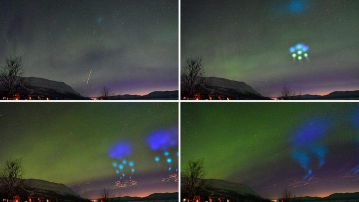 Фото №3 - Жители Норвегии приняли научный эксперимент NASA за вторжение инопланетян (фото и видео)
