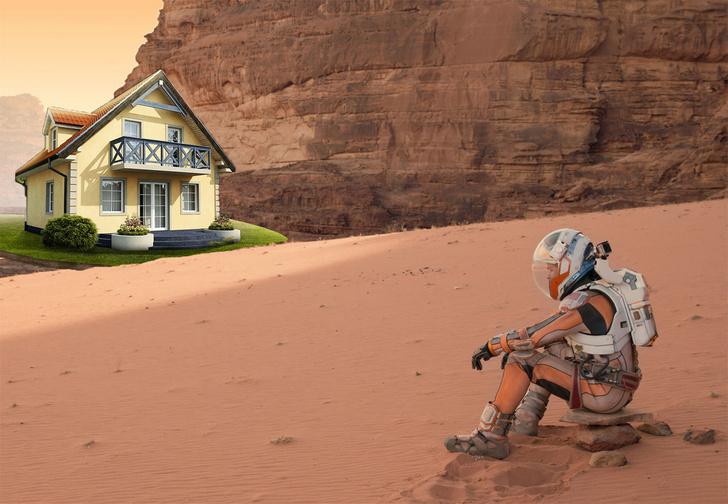 Фото №1 - NASA рассказало (и показало!), в каких домах мы будем жить на Марсе