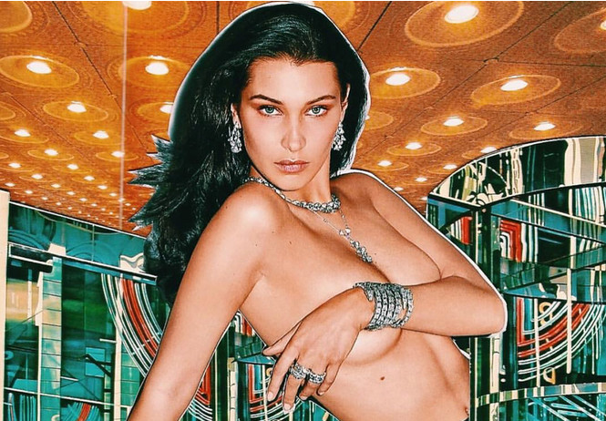 Полюбуйся на модель Беллу Хадид в микрошортах на голое тело