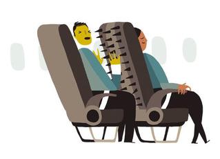 Кому принадлежит пространство между твоими коленями и спинкой сиденья впереди — тебе или тому, кто откидывает спинку?