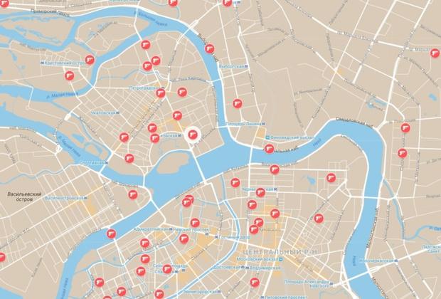 Фото №2 - Составлена карта заказных убийств в бандитском Петербурге в лихие 90-е! Ностальгируй на здоровье!