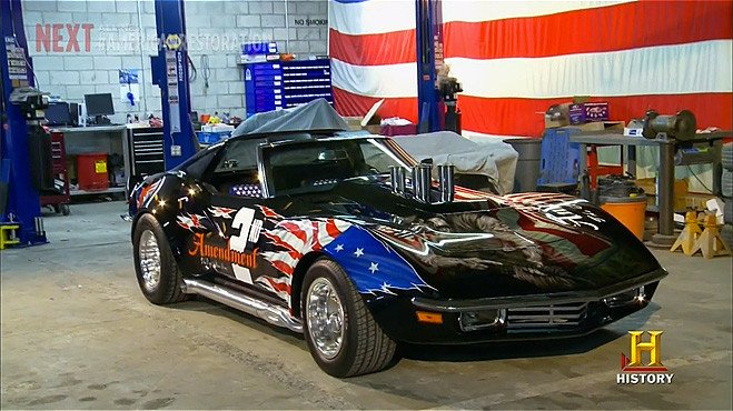 patriotic muscle car