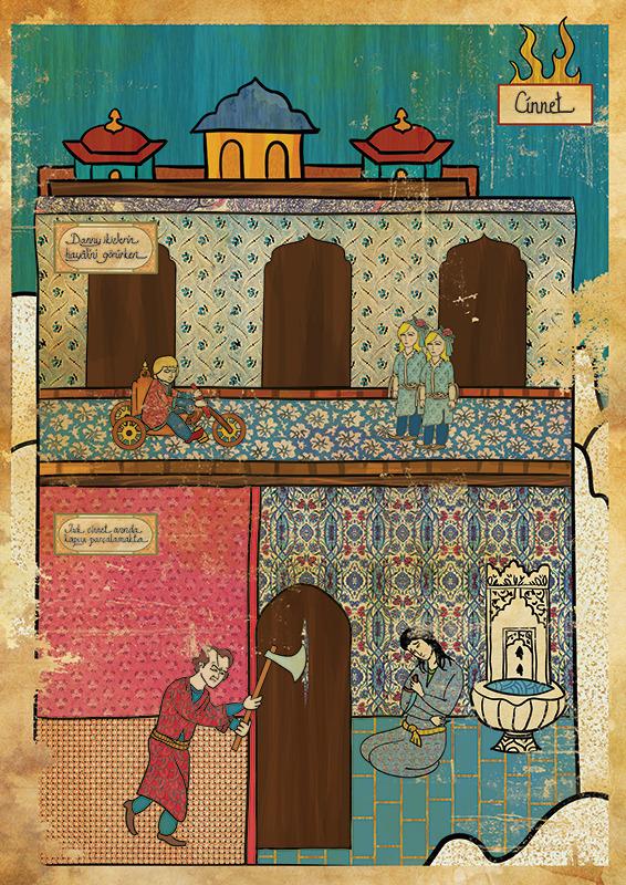 Фото №6 - Художник воссоздал культовые сцены из «Терминатора», «Чужого» и других фильмов в стиле восточных миниатюр