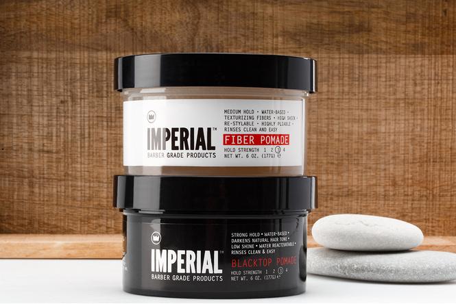 Imperial Barber Blacktop Pomade и Fiber Pomade