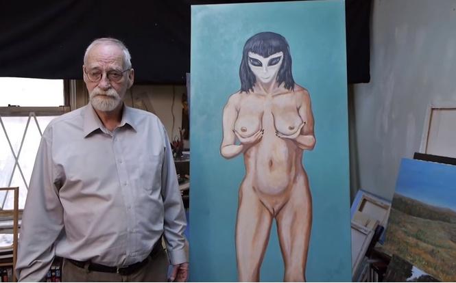 Художник рассказал, как инопланетянка лишила его девственности, — и теперь он пишет картины о пришельцах