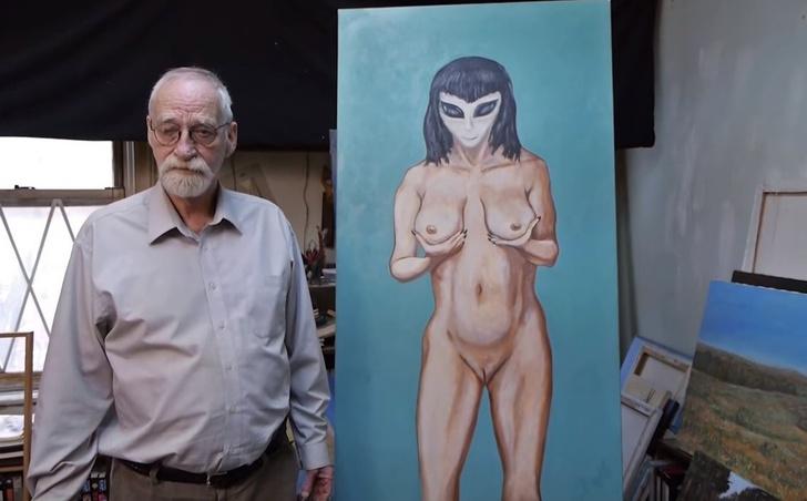 Фото №5 - Художник рассказал, как инопланетянка лишила его девственности, — и теперь он пишет картины о пришельцах