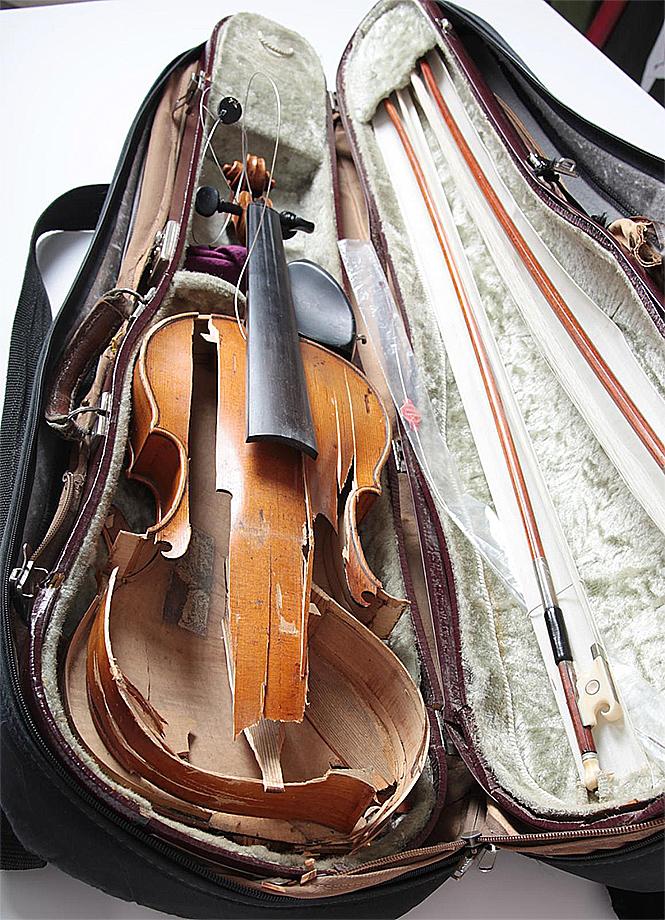 Фото №2 - Разозленная женщина уничтожила бесценную коллекцию музыкальных инструментов бывшего мужа